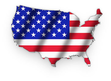 Free American Graphics American Flag Images Animations Clipart - Us flag map