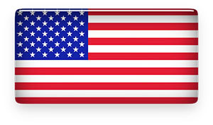 American flag glass design