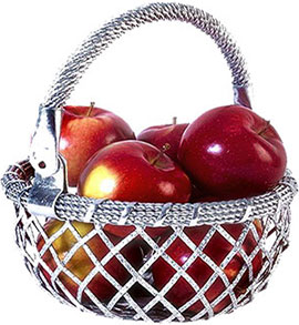 lace basket of apples