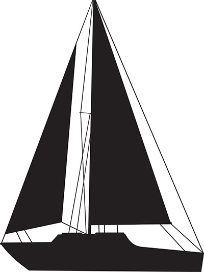 silhouette sail boat