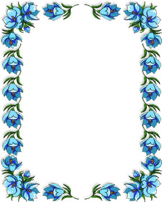 blue flowers border