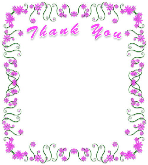 Free Thank You Borders Frames Graphics Clipart