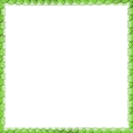 Border frame with light green edge design - 520 x 520 pixels.