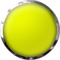 yellow button round with chrome