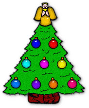 christmas tree with angel - Christmas Angel Tree