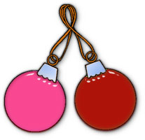 2 glass ornaments - Animated Christmas Ornaments
