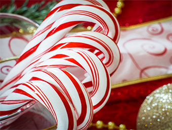 photo image of candy canes