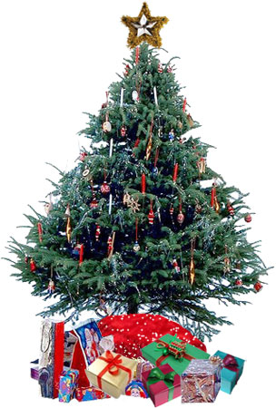 large christmas tree with presents - Large Christmas Tree