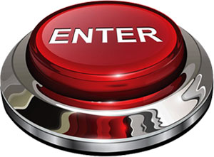 enter button red, white and chrome