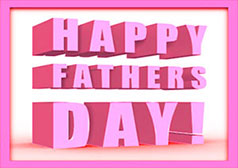 Happy Fathers Day in pink