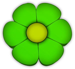 green and yellow flower