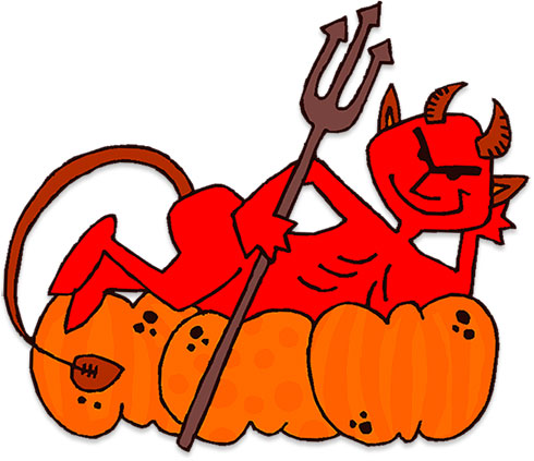 devil pumpkins