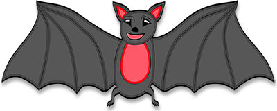 Vampire bat. Free animations halloween graphics