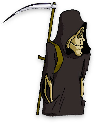 grim reaper with his scythe