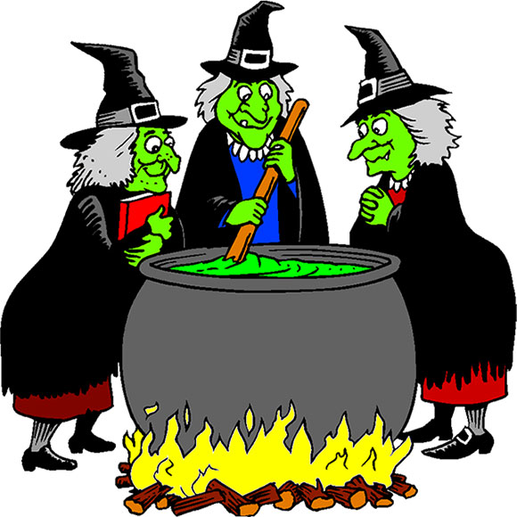 witches cooking up a brew