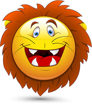 smiley lion