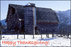 barn on thanksgiving