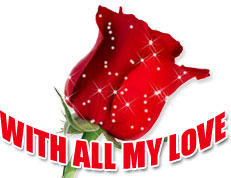 rose with all my love